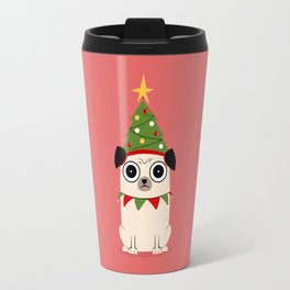 It's Christmas for Pug's Sake Travel Mug