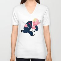 ford V-neck T-shirts featuring Rob Ford by Chris Piascik