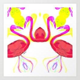 Fifi the pink Flamingo 2 /Pattern Art Print