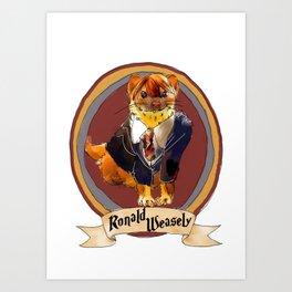 Magic Weasel Art Print