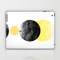 Geller - modern minimal abstract painting white and black gold foil glitter sparkle hipster trendy  Laptop & iPad Skin