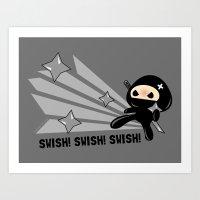 Swish!!! Art Print
