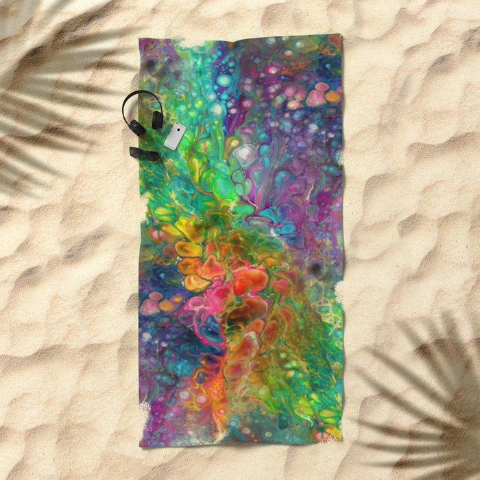 Reality is Melting Beach Towel