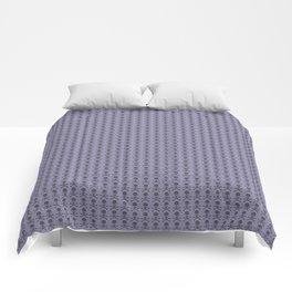 Black and Lavender Skulls Comforters