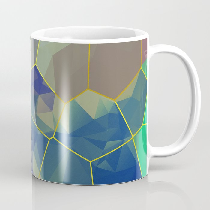 Stained Glass Polygons Coffee Mug