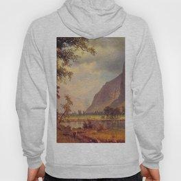 Yosemite Valley 1866 By Albert Bierstadt | Reproduction Painting Hoody