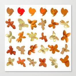 Orange Peel Party Canvas Print