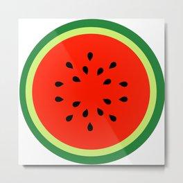 Watermelon Summer fruit Metal Print