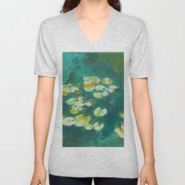Serene Lotus Pond Unisex V-Neck