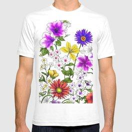 Watercolor Botanical Border T-shirt