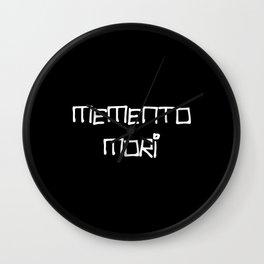 motto in latin -memento mori 1 Wall Clock