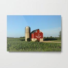Happy barn Metal Print