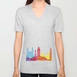 Casablanca skyline pop Unisex V-Neck