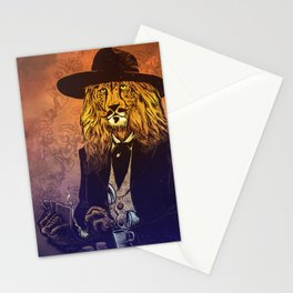 Low down, no good, Lion Cheetah Stationery Cards