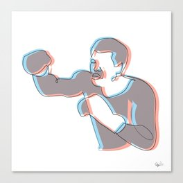 Boxing Ali (coulour) Canvas Print