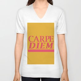 Carpe Diem yellow Unisex V-Neck