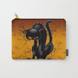 Black Cat Evil Angry Funny Character Carry-All Pouch