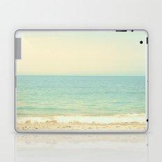 Pale blue retro beach  Laptop & iPad Skin