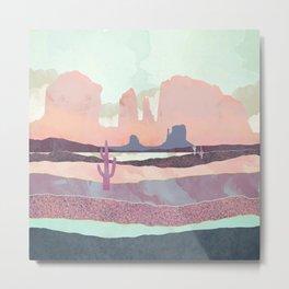 Desert Dusk Light Metal Print