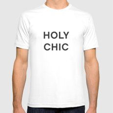 HOLY CHIC - fashion statement Mens Fitted Tee White MEDIUM