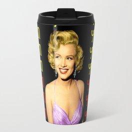 Marilyn Abstract poster print Travel Mug