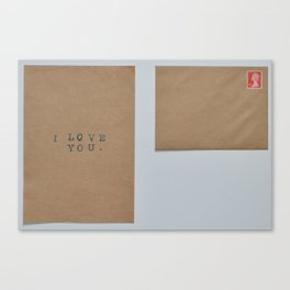 unsent letters project. Canvas Print
