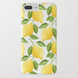 Watercolor Lemons iPhone Case