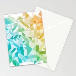 Colorful Geometric Pattern Saturated Rainbow Pattern Design (Red Pink Orange Yellow Green Blue) Stationery Cards