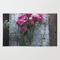 Rustic Pink Roses Rug