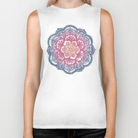 bedding Biker Tanks featuring Radiant Medallion Doodle by micklyn