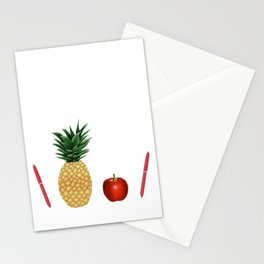 Pen Pineapple Apple Pen - PPAP - Homage - Funny - 57 Montgomery Ave Stationery Cards