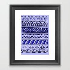 Yzor pattern 002 blue Framed Art Print