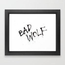 Doctor Who bad wolf Framed Art Print