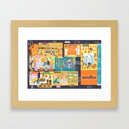 Tel Aviv Map - Montefiore Quarter Framed Art Print