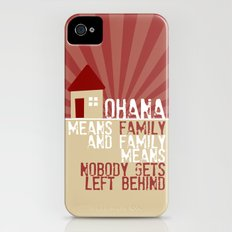 Ohana Means Family - Lilo & Stitch Slim Case iPhone (4, 4s)