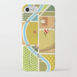 from above in the skies of Picardy iPhone Case