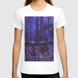 Van Gogh Trees & Underwood Purple Blue T-shirt
