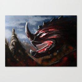 Flame Demon Canvas Print