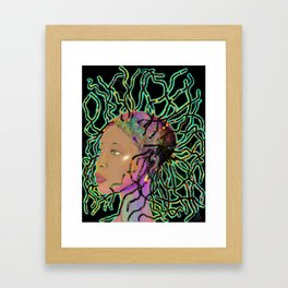 Badu Bee Buggin Framed Art Print