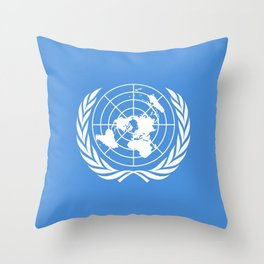 United Nations Flag Throw Pillow