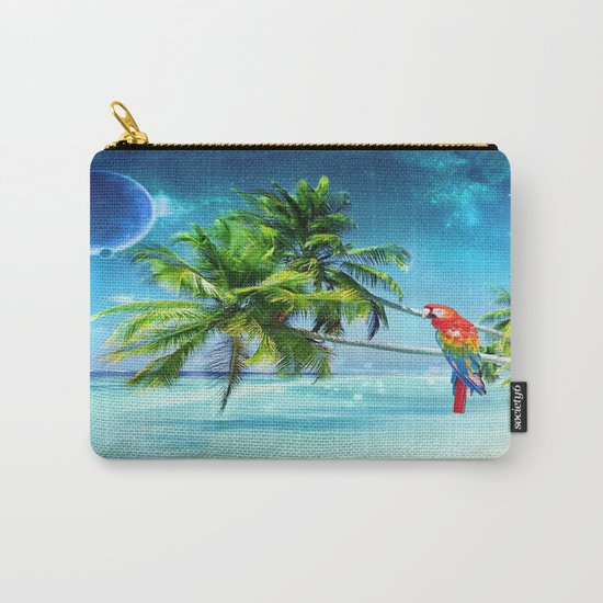 Parrot in the beach Carry-All Pouch