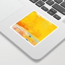 sunny landscape Sticker