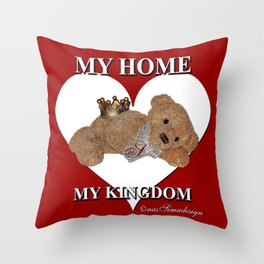 My Home, My Kingdom - Red Throw Pillow
