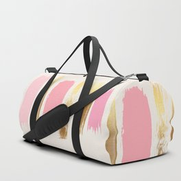 Brush Strokes (Rose/Gold) Duffle Bag