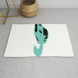 """Lavishing """"Silhouette Blue Car"""" perfect for awesome, intense and brilliant person like you! Rug"""