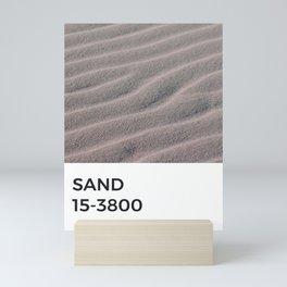Sand Taupe Beige Tan Natural Tonal Pantone Chip Mini Art Print