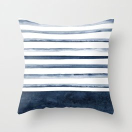 Watercolor Stripes Pattern Throw Pillow