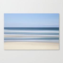 peaceful blue beach Canvas Print