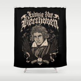 Death Metal Beethoven Shower Curtain