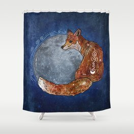 Fox Moon Shower Curtain
